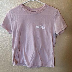Brandy Melville Malibu pink T-shirt